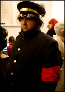 Kenny cosplayar Doumeki Kai från Osu! Tatakae! Ouendan på Uppcon:08 år 2007.